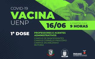 UENP inicia vacinação de professores e agentes administrativos contra Covid-19